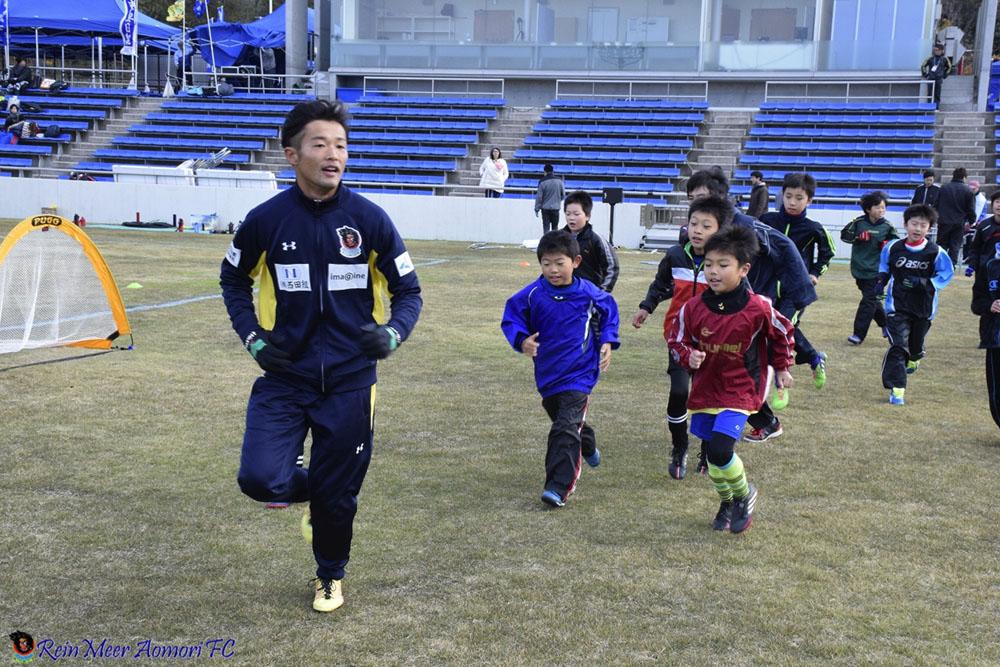 「東奥日報 第2回 JuniJuniサッカー教室」レポート